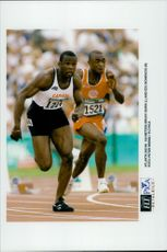 Bruny Surin and Edu Bonifacio run 100 meters