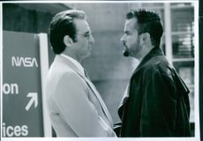 "1996  Carlos Irwin Estevez and Ronald Arthur ""Ron"" Silver in the movie The Arrival."