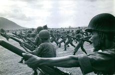Vietnamese Soldiers on training.