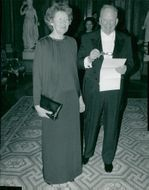 Actor Carl-Gustaf Lindstedt with his wife