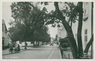 Mora. The church street - postcard