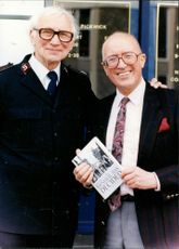 Ray Castle and  Salvation Army Commisioner Harry Williams.