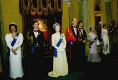 Wax cabinets of the English royal family at Madame Tussauds