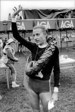 The winner of the Liding Race for Women 1981, Grete Waitz