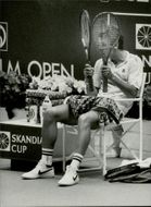 Mats Wilander during the Stockholm Open
