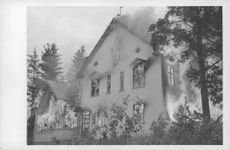 Fire broke out in a house in Finland during war.