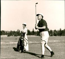 Sigvard Bernadotte at Penina golf course in Algarve