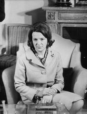 Princess Irene of the Netherlands sitting on a coach.