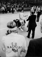 Tennis player Ilie Nastase receives trophy