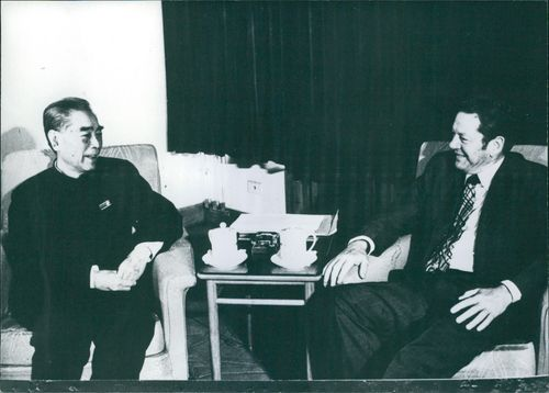 A photo of Chou En-Lai and Donald Willesee.