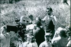 A view from the set of movie Star Trek Generations.