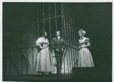 "Yvonne Lombard, Curt Masreliez and Gerd Hagman in the ""Twilight Opera"" at Göteborg City Theater"