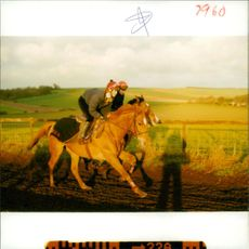 Tracey Bailey rides up the Lambourn bank.