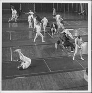 Article image from an unknown fencing competition.
