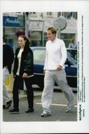 The tennis couple Magnus Norman and Martina HInigs in Wimbledon