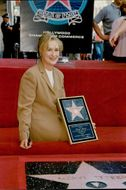 Actress Meryl Streep at a ceremony where she is awarded a star on Hollywood's Walk of Fame