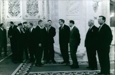 German leaders talking to one another.  - Oct 1964