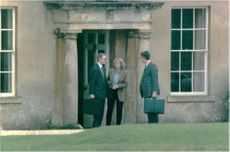 "Camilla Parker Bowles träffade sina advokater i hennes hus ""Middlewick House"" i Corsham"