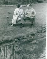 Denis Healey with his wife Edna at his home in Sussex Downs