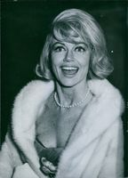 American actress Dorothy Malone smiling, 1966.