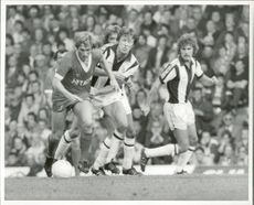 Kenny Dalglish (Liverpool) and John Wile (West Bromwich Albion)
