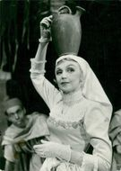 "Actress Inga Tidblad in the lead in the ""Witch of the Atlas Mountains"""