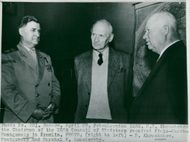 Field Marshal Viscount Montgomery along with delegates during his state visit in Moscow