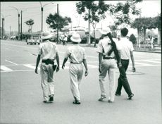Patrols of North Vietnamese soldiers on the streets of Saigon