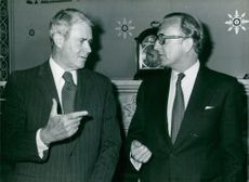 Cyrus Vance & Lord Carrington at the Foreign Office in London. 1979.