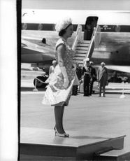Princess Margaretha at the airport.