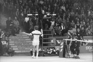 John McEnroe during Stockholm Open 1980