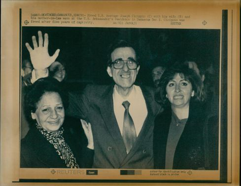 Joseph Cicippio with his wife and mother inlaw.