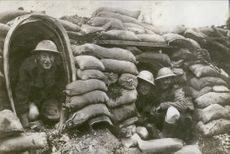 British troops on a hideout.