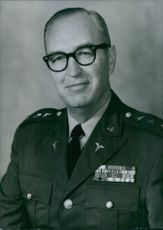 Portrait of U.S. Service Chief Lieut. Gen. Hal B. Jennings, 1971.