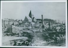 A destroyed infrastructures in Norway during the war, 1940.