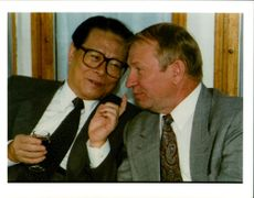 Jiang Zemin Former General Secretary of the Communist Party of China with leonid kuchma.