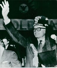 Senator Barry Goldwater among supporters in San Francisco