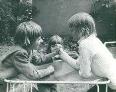 Kids playing together.