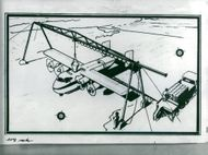 Sketch of an aircraft from Scania-Saab