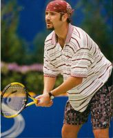 Portrait of Andre Agassi.
