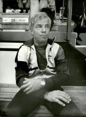 Portrait image of Bernt Andersson, football coach for Vasalund, taken in an unknown context.