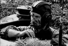 A soldier during a war exercise at Luneburgerheden