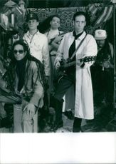 Big Audio Dynamite (band) striking a pose for a picture.
