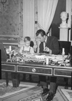 Prince Laurent in his father's office.