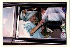Portrait image of Queen Elizabeth taken when she opened the Animal Hospital Blue Cross Animal Hospital.
