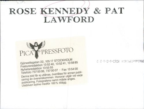 Rose Kennedy and Pat Lawford