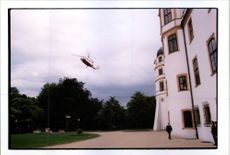 The ambulance helicopter taking Prince Ernst-August von Hanover to hospital