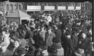 In the Royal Garden swarmed with people Sunday, the Red Cross this week's second day. Loiter, badges and membership fees had hot cakes, as well as the sun shone from the ew spring-blue sky, which all helped to make Sunday a clear succédag. - 8 May 1944