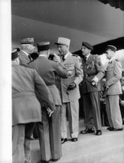 Meeting of military officers in Algeria. This photo is from Algeria War (Algeritkriget) folder in an old press archive.