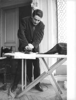 Jacques Charrier ironing.
